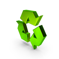 Recycling Icon Green PNG & PSD Images