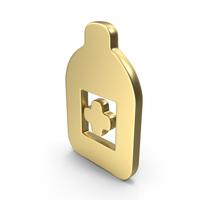 Logo Medicine Bottle Gold PNG & PSD Images