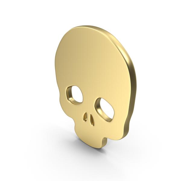 Logo Skull Gold PNG & PSD Images