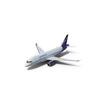 Sukhoi Superjet 100 with Saberlets Aeroflot Flight PNG & PSD Images