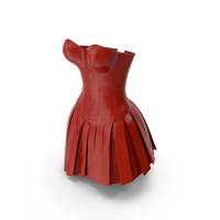 Leather Corset with Skirt PNG & PSD Images