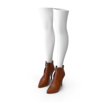 Leather Boots with Stockings PNG & PSD Images