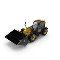 Telehandler Forklift Scoop Bucket JCB 535 PNG & PSD Images