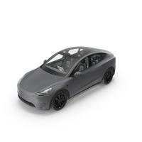 Tesla Model Y Silver PNG & PSD Images