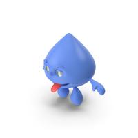 Water Drop Cartoon Mascot PNG & PSD Images