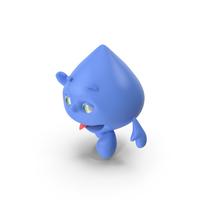 Water Drop Cartoon Mascot Character Waving PNG & PSD Images