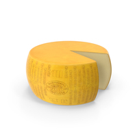 Wheel Of Parmesan Cheese With Piece Cut Out PNG & PSD Images