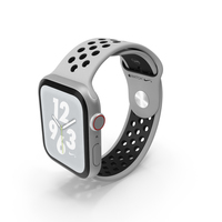 White Apple Watch Series 4 Nike PNG & PSD Images