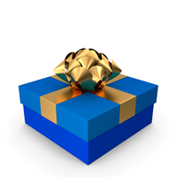 Gift Box Blue PNG & PSD Images