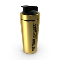 The Protein Works Black n Gold Protein Shaker PNG & PSD Images