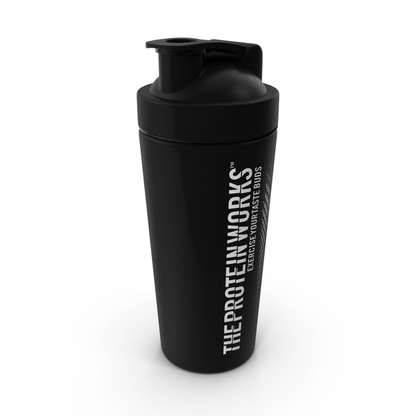 The Protein Works Matte Black Protein Shaker PNG & PSD Images