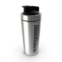 The Protein Works Stainless Steel Protein Shaker PNG & PSD Images
