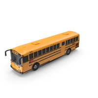 Thomas Saf T Liner School Bus Exterior Only PNG & PSD Images
