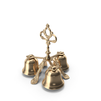 Three Sound Golden Plated Handbell PNG & PSD Images