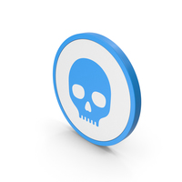 Icon Skull Blue PNG & PSD Images