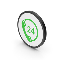 Icon 24 Hours Phone Service PNG & PSD Images