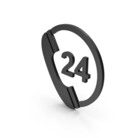 Symbol 24 Hours Phone Service Black PNG & PSD Images