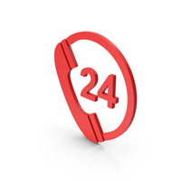 Symbol 24 Hours Phone Service Red PNG & PSD Images