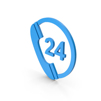 Symbol 24 Hours Phone Service Blue PNG & PSD Images
