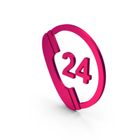 Symbol 24 Hours Phone Service Metallic PNG & PSD Images