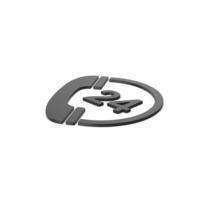 Black Symbol 24 Hours Phone Service PNG & PSD Images