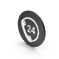 24 Hours Phone Service Icon PNG & PSD Images