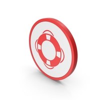 Icon Life Saver Red PNG & PSD Images