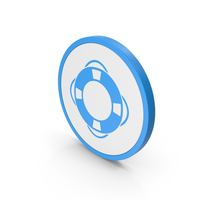 Icon Life Saver Blue PNG & PSD Images
