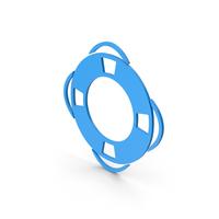 Symbol Life Saver Blue PNG & PSD Images