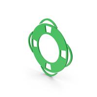Symbol Life Saver Green PNG & PSD Images