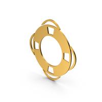 Symbol Life Saver Gold PNG & PSD Images