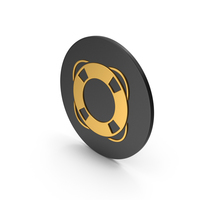 Life Saver Gold Icon PNG & PSD Images
