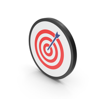 Icon Target Red PNG & PSD Images