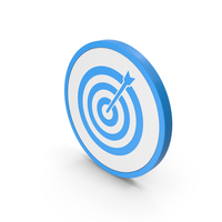 Icon Target Blue PNG & PSD Images