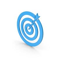 Symbol Target Blue PNG & PSD Images