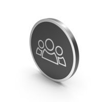 Silver Icon People Group PNG & PSD Images