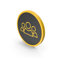 Icon People Group Yellow PNG & PSD Images