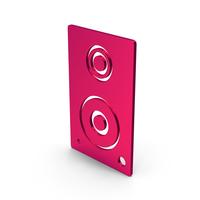Symbol Speaker Metallic PNG & PSD Images