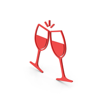Symbol Clinking Glasses Red PNG & PSD Images