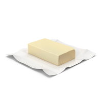 Whole Block of Butter in Open Foil Packaging PNG & PSD Images