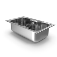 Wide Single Bowl Stainless Steel Inset Sink PNG & PSD Images