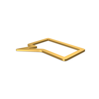 Gold Symbol Speech Bubble PNG & PSD Images