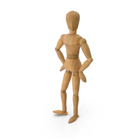 Wooden Dummy Toy Standing Pose PNG & PSD Images