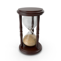 Wooden Hourglass Sand Timer PNG & PSD Images