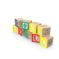 Wooden Letters Blocks PNG & PSD Images