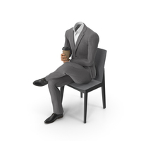 Chair Coffee Suit Grey PNG & PSD Images