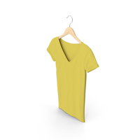 Female V Neck Hanging Yellow PNG & PSD Images