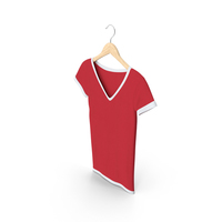 Female V Neck Hanging White And Red PNG & PSD Images