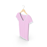 Female V Neck Hanging White And Pink PNG & PSD Images