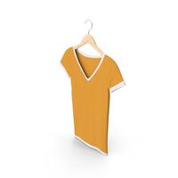 Female V Neck Hanging White And Orange PNG & PSD Images